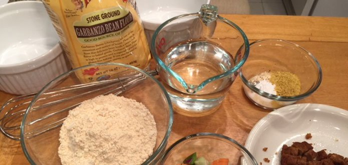 Easy Chickpea Frittata Ingredients